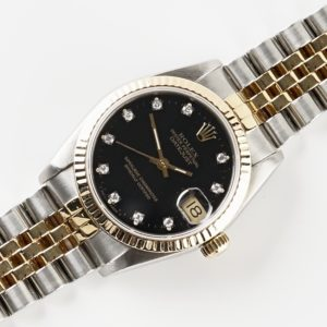 Rolex Mid-Size Datejust 68273 (1987) Diamonds