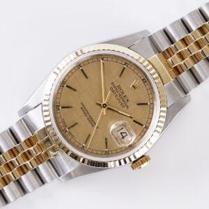 Rolex Oyster Perpetual Datejust Linen 16233 1991 (Full Set)